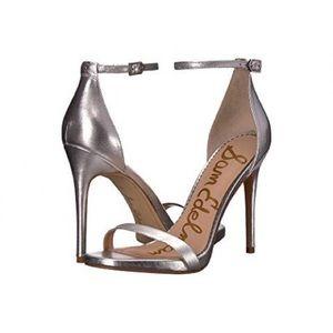 NWOT Sam Edelman silver Ariella heels